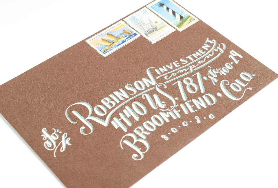 Hand-Lettered Envelope | The Postman's Knock