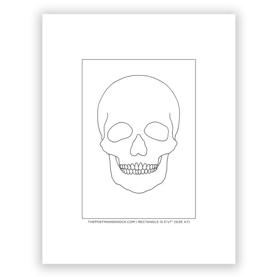 Skull Outline for Tracing (Free)   The Postman's Knock