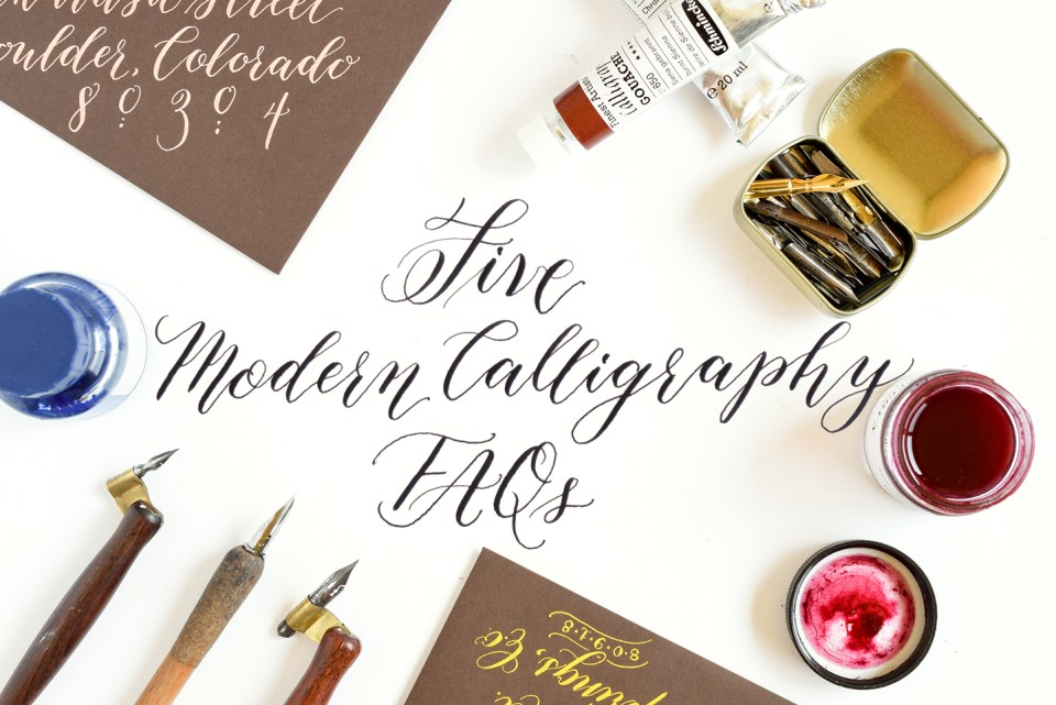 Five Modern Calligraphy FAQs | The Postman's Knock