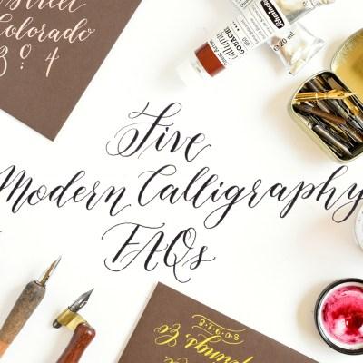 Five Modern Calligraphy FAQs