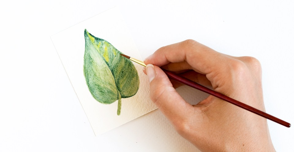 three watercolor leaves tutorials the postman s knock