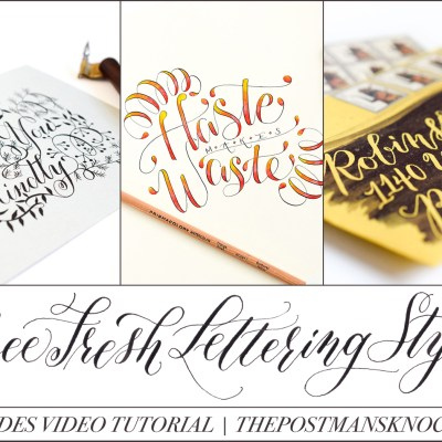Three Fresh Lettering Styles to Try