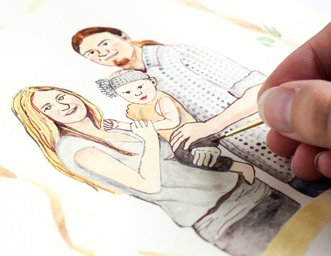 Simple Watercolor Portrait | The Postman's Knock
