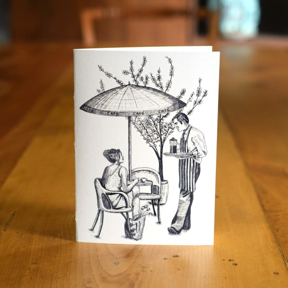 "This ""Chatting at the Café"" A7 Card celebrates the very Parisian tradition of taking a few moments out of the day to relax at a café!"