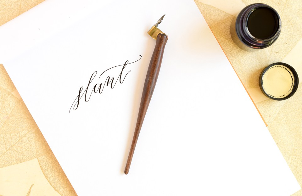 Modern Calligraphy: 5 Tips to Improve Your Writing Slant | The Postman's Knock