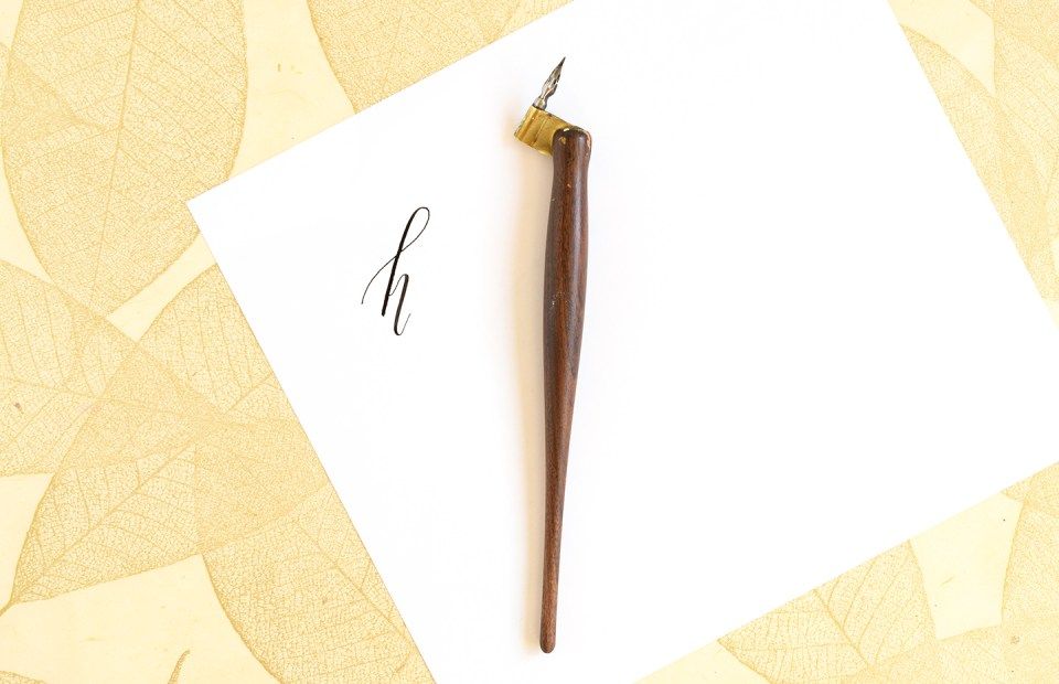 Modern Calligraphy: 5 Tips to Improve Your Writing Slant   The Postman's Knock