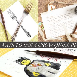 3 Ways to Use a Crow Quill Pen + a Giveaway | The Postman's Knock