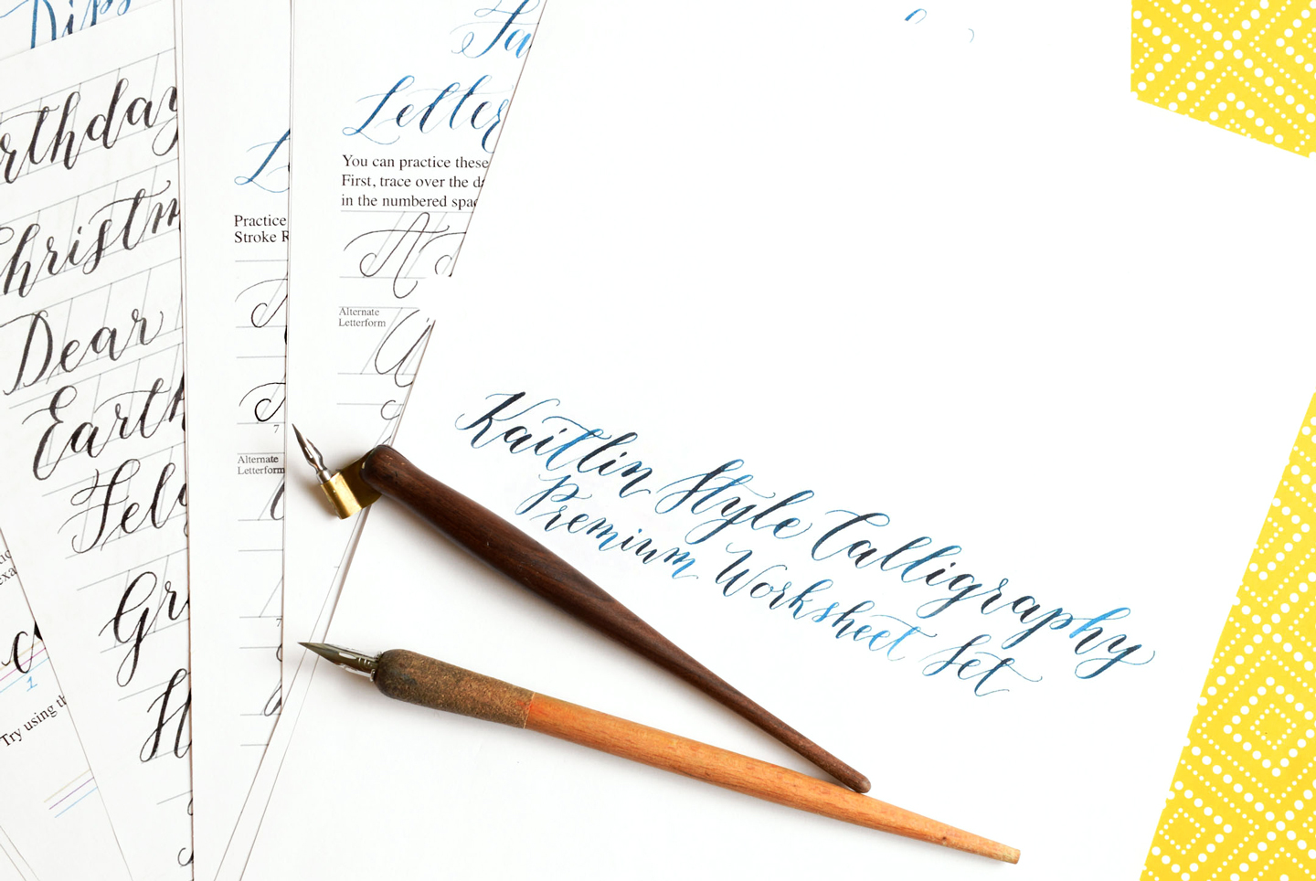 The New Kaitlin Style Calligraphy Worksheet Is Here
