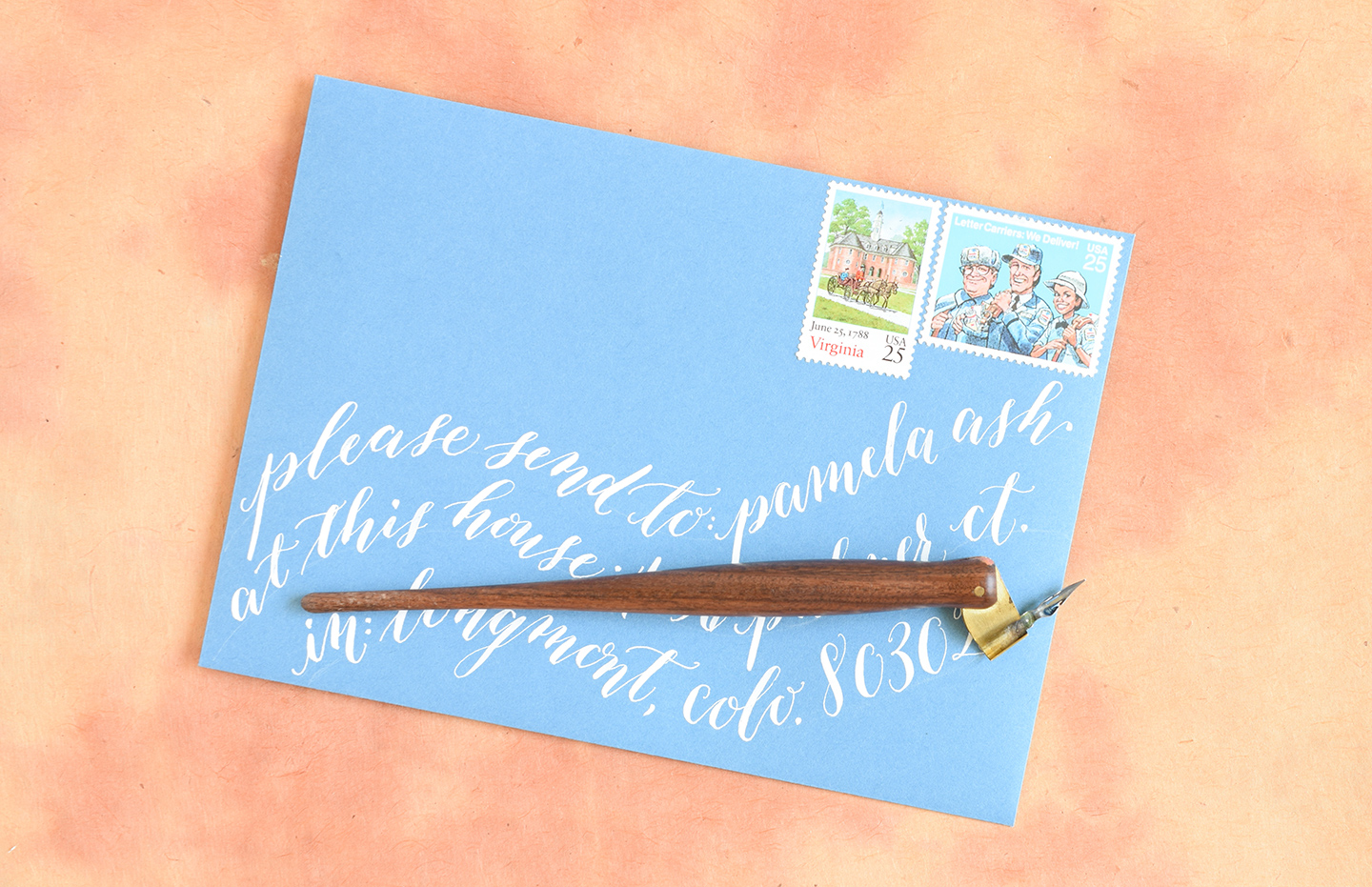 Envelope Calligraphy Spacing Tips and Techniques | The Postman's Knock