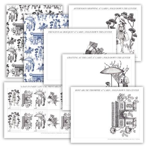 Parisian-Themed Printable Stationery Bundle   The Postman's Knock