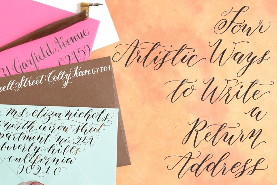 four artistic ways to write a return address  the postman