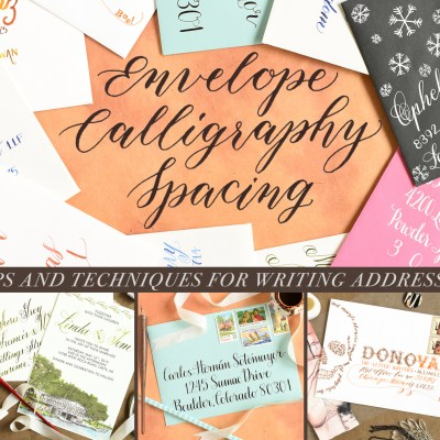 Envelope Calligraphy Spacing Tips and Techniques