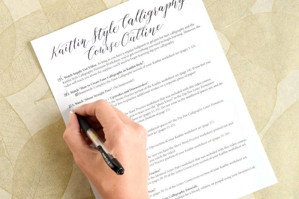 The Kaitlin Style Calligraphy Video Course is Here! | The Postman's Knock