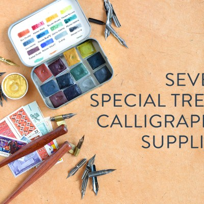 """Seven """"Special Treat"""" Calligraphy Supplies"""