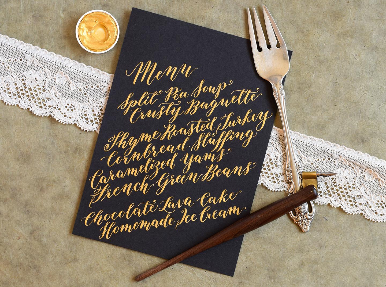Papyrus Wedding Invitations 23 Great calligraphed menus