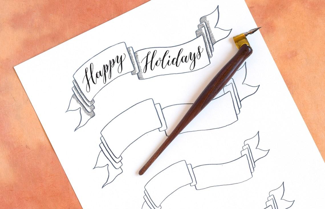 DIY Holiday Card + Artistic Envelope Tutorial   The Postman's Knock