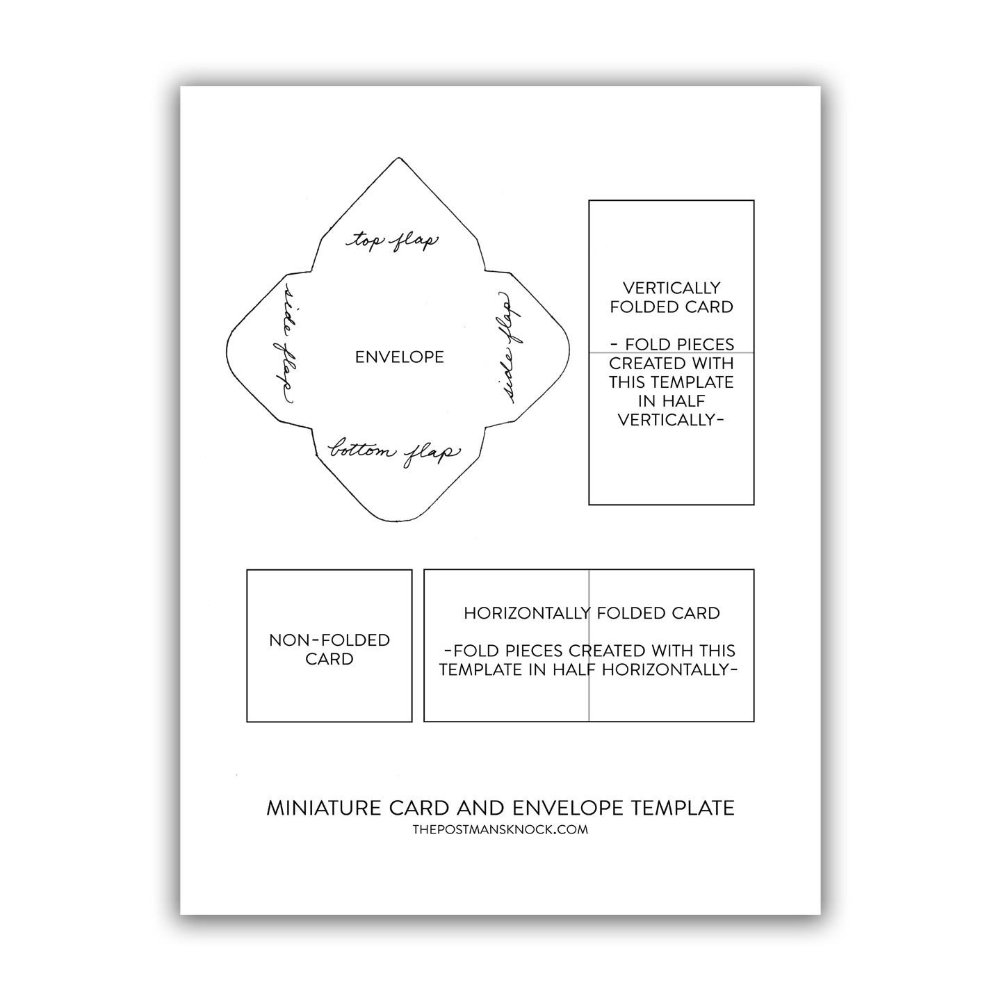Miniature Card Envelope Printable Template The Postman S Knock