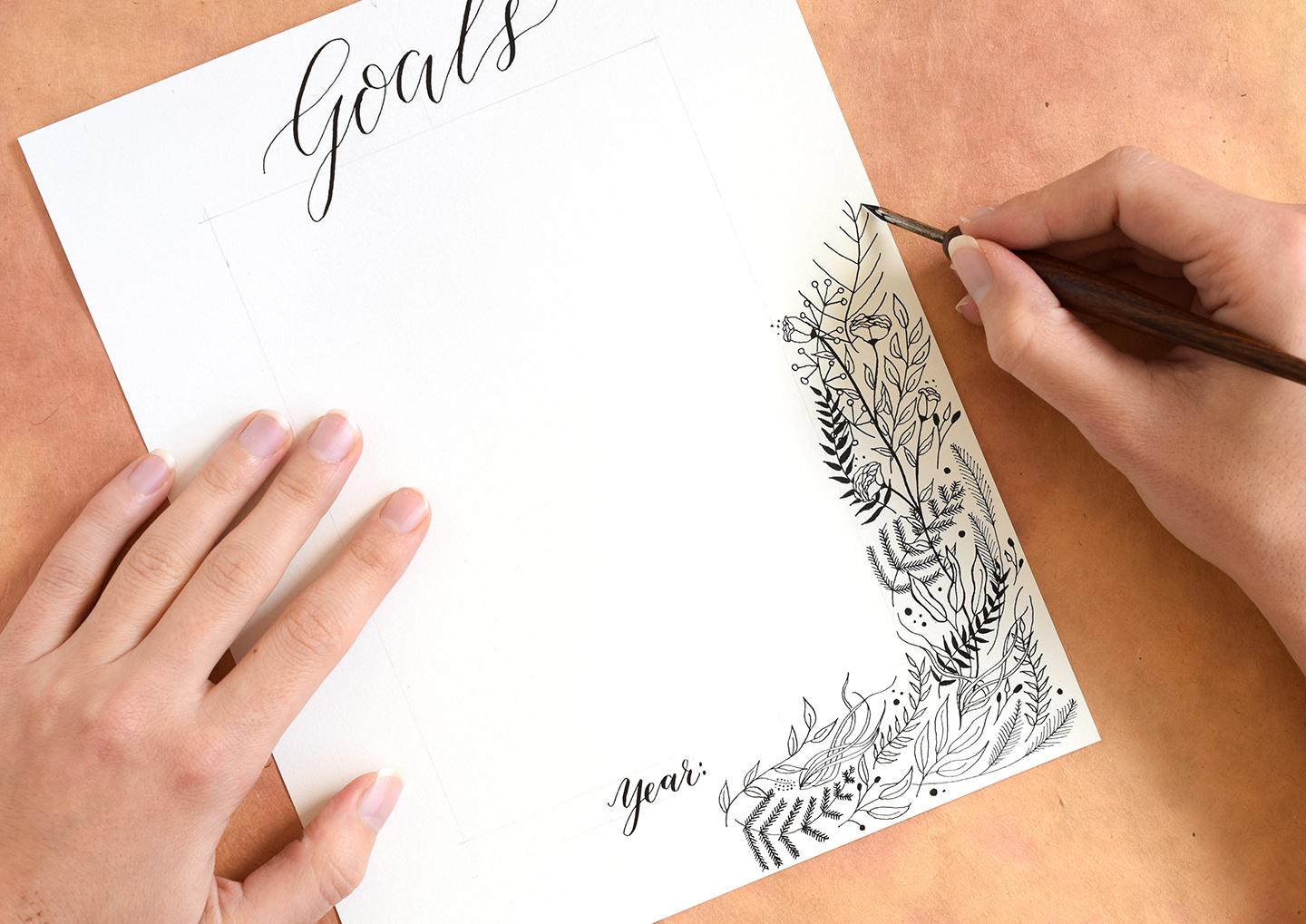 Printable Goal List with Botanical Border | The Postman's Knock