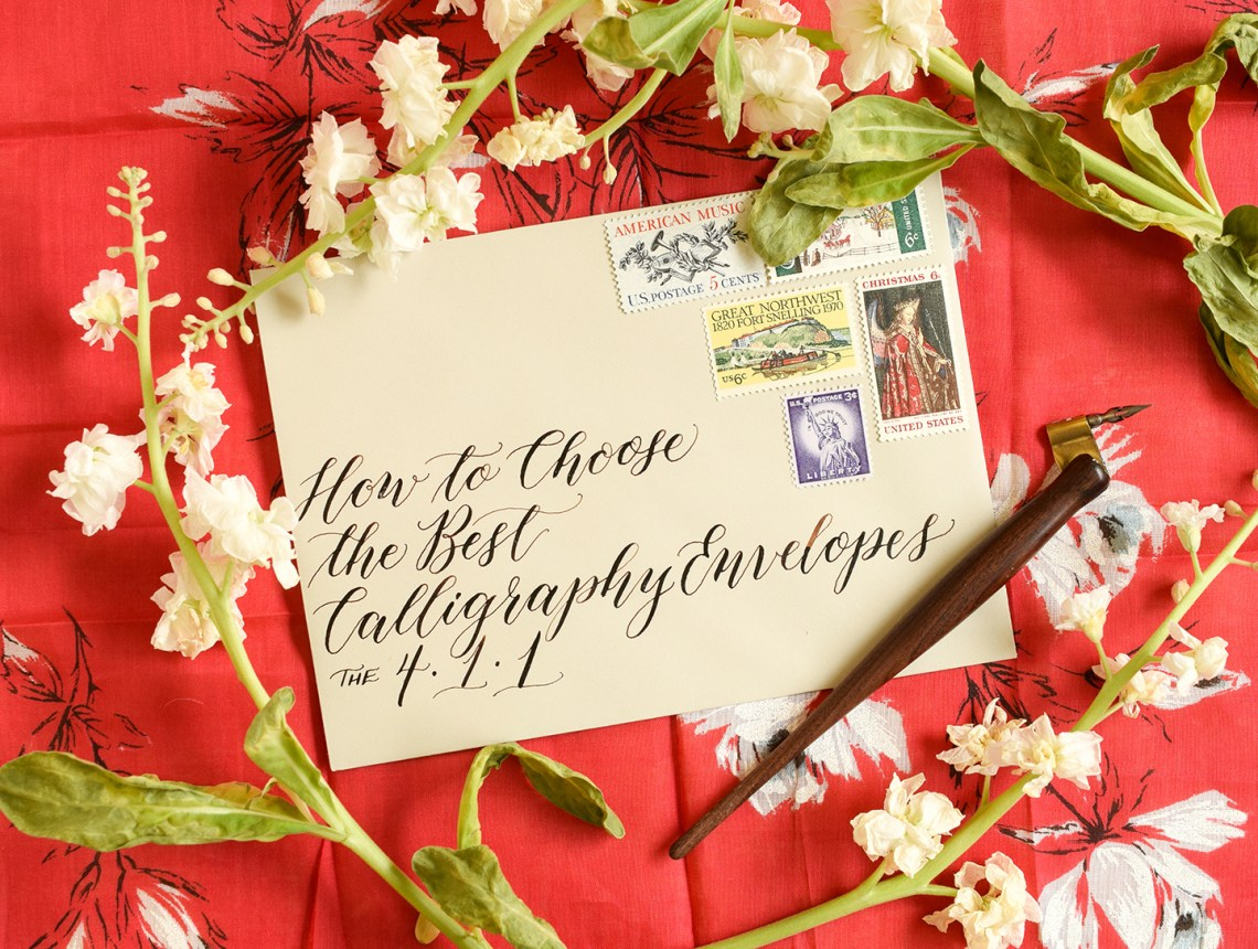 How to Choose the Best Calligraphy Envelopes   The Postman's Knock