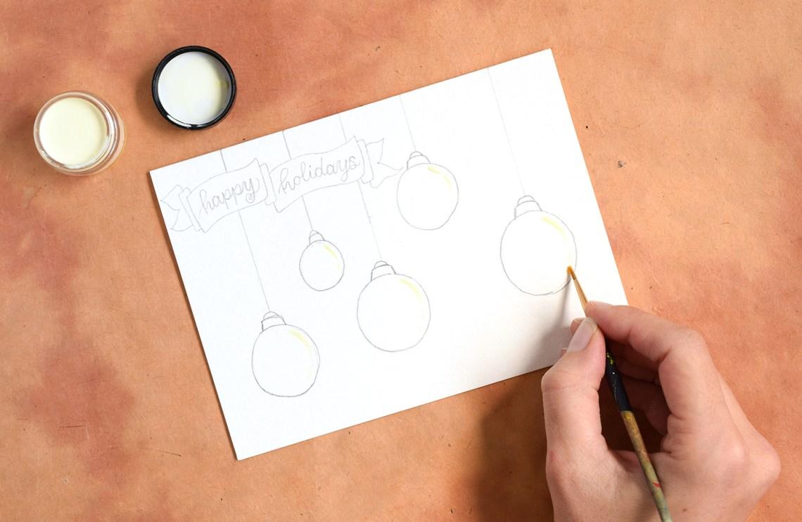 """Artistic Ornaments""-Themed DIY Christmas Card Tutorial   The Postman's Knock"