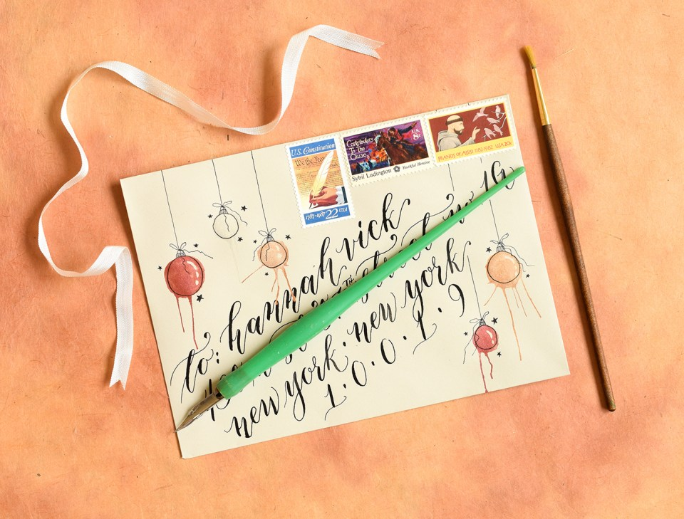 """Artistic Ornaments""-Themed Envelope 