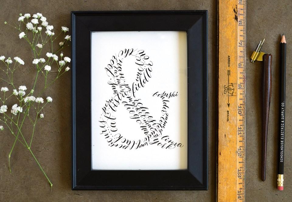 Calligraphy Ampersand Art Tutorial | The Postman's Knock
