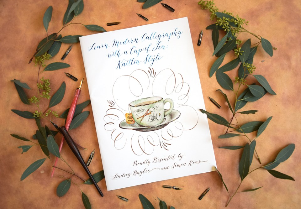 Scribblers Edition Kaitlin Style Calligraphy Workbook Giveaway | The Postman's Knock