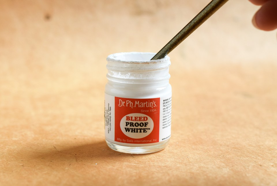 White Calligraphy Ink Showdown Part II: Bleedproof White + Winsor & Newton | The Postman's Knock