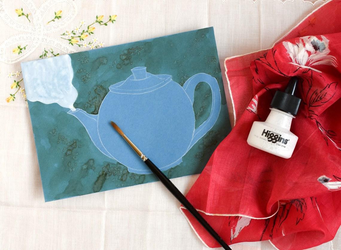 Illustrated Teapot Envelope Art Tutorial | The Postman's Knock
