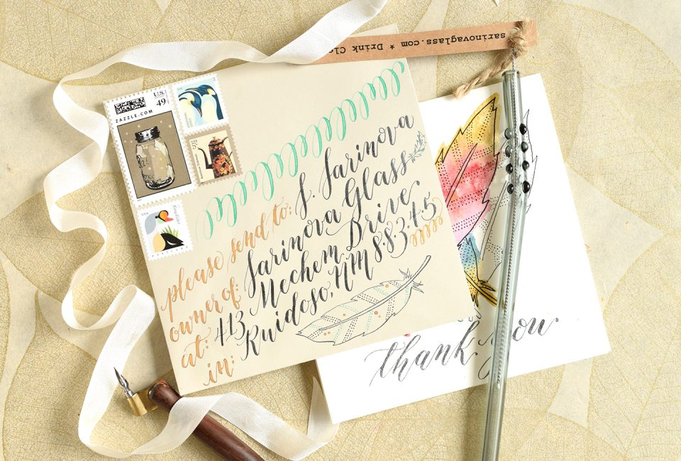Mail Art Made with Iridescent Inks | The Postman's Knock