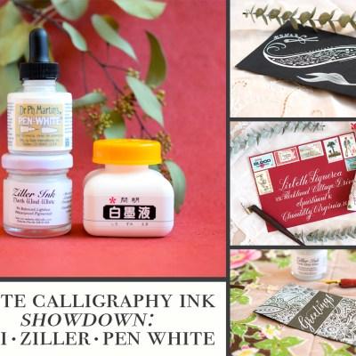 White Calligraphy Ink Showdown: Sumi, Ziller, & Pen White