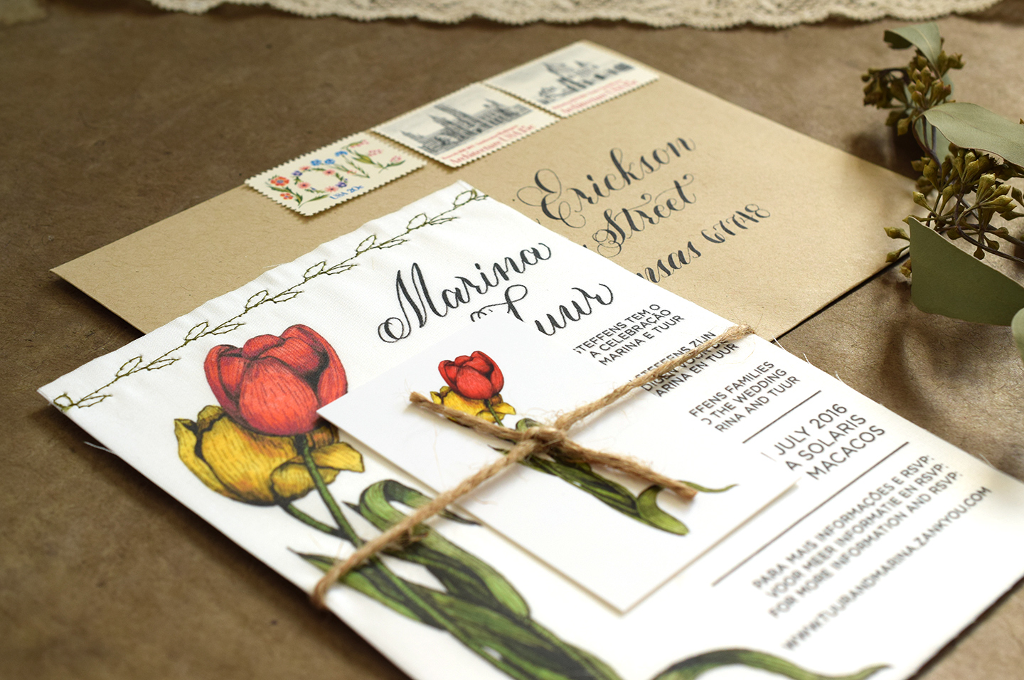 Wedding Invitation Belly Bands