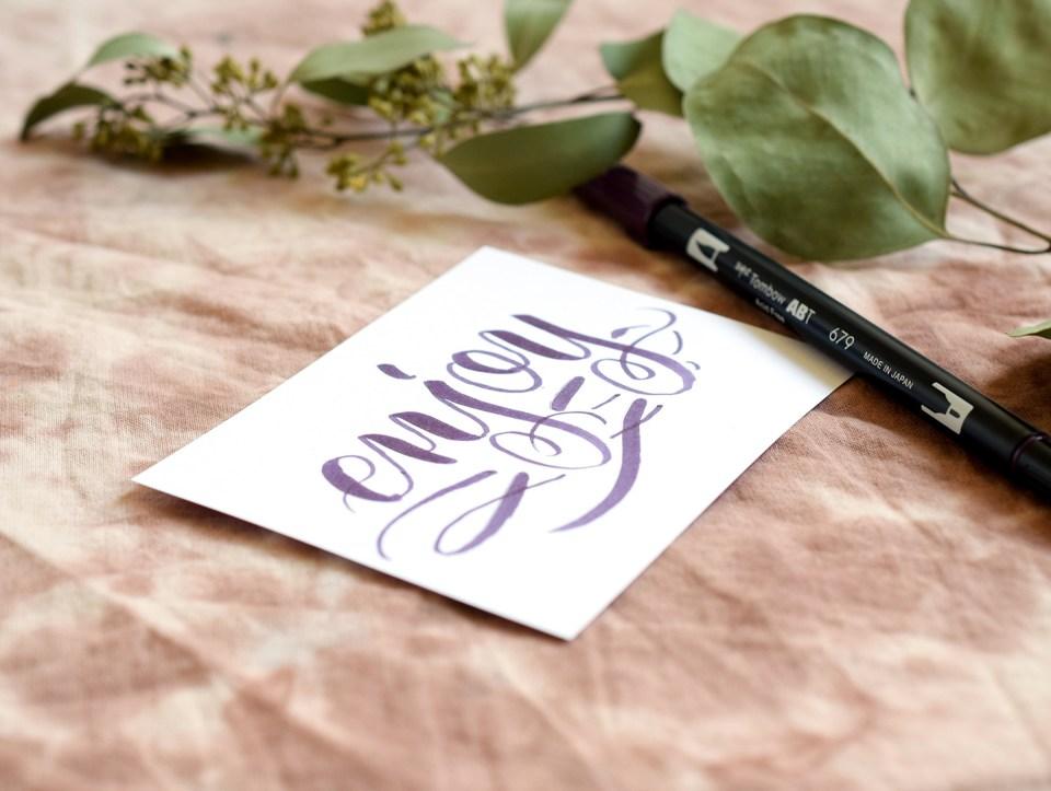Three Simple Calligraphy Flourishes | The Postman's Knock