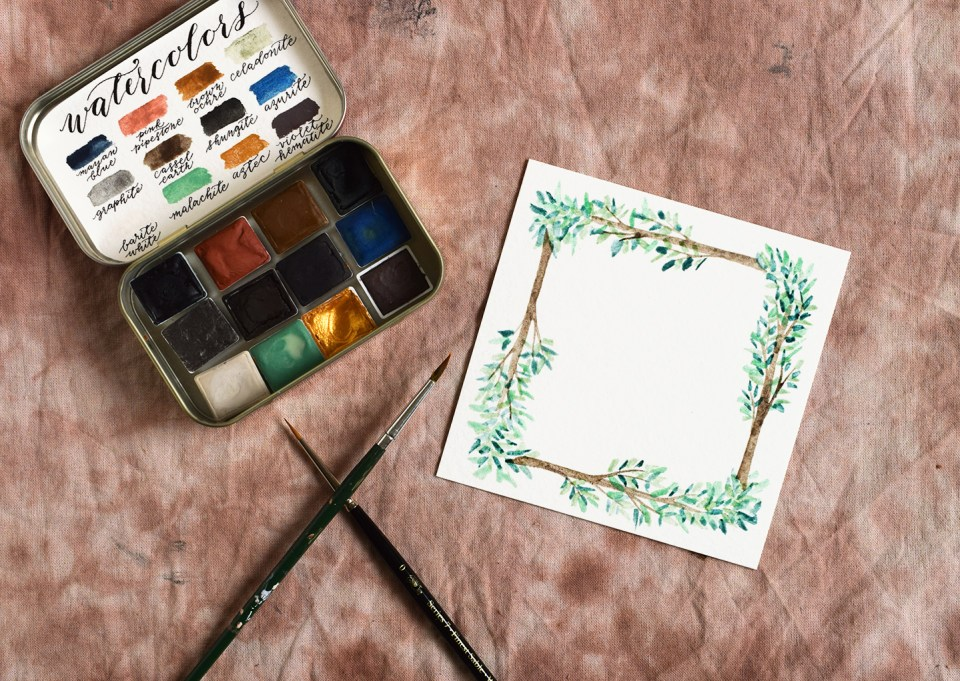 Woodland Watercolor Wreath Tutorials: Part I | The Postman's Knock