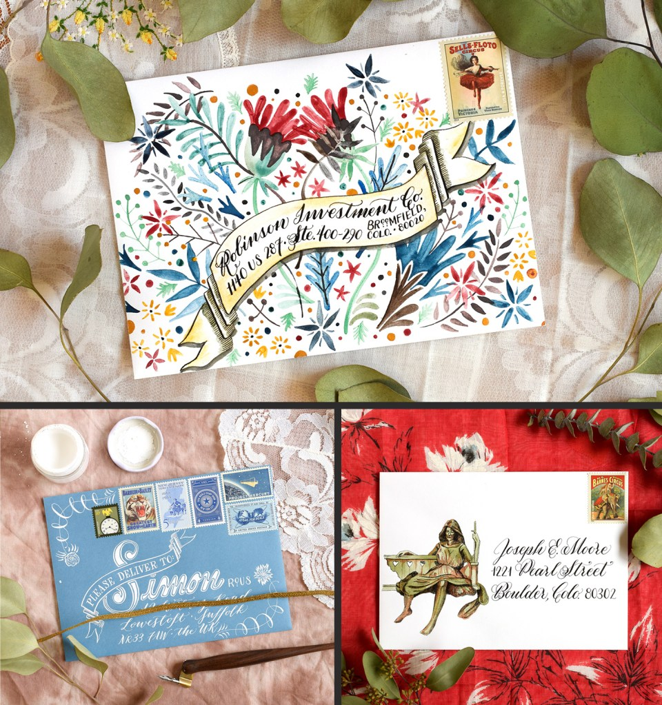 Three Envelope Art Mini-Tutorials | The Postman's Knock