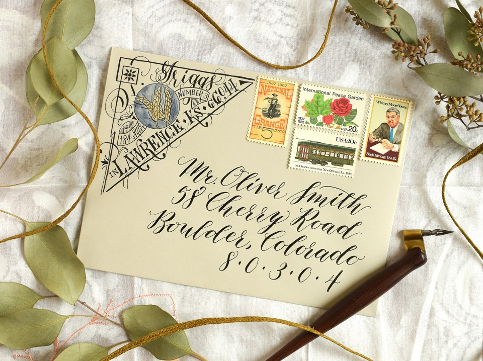 Artistic Return Address Tutorial   The Postman's Knock