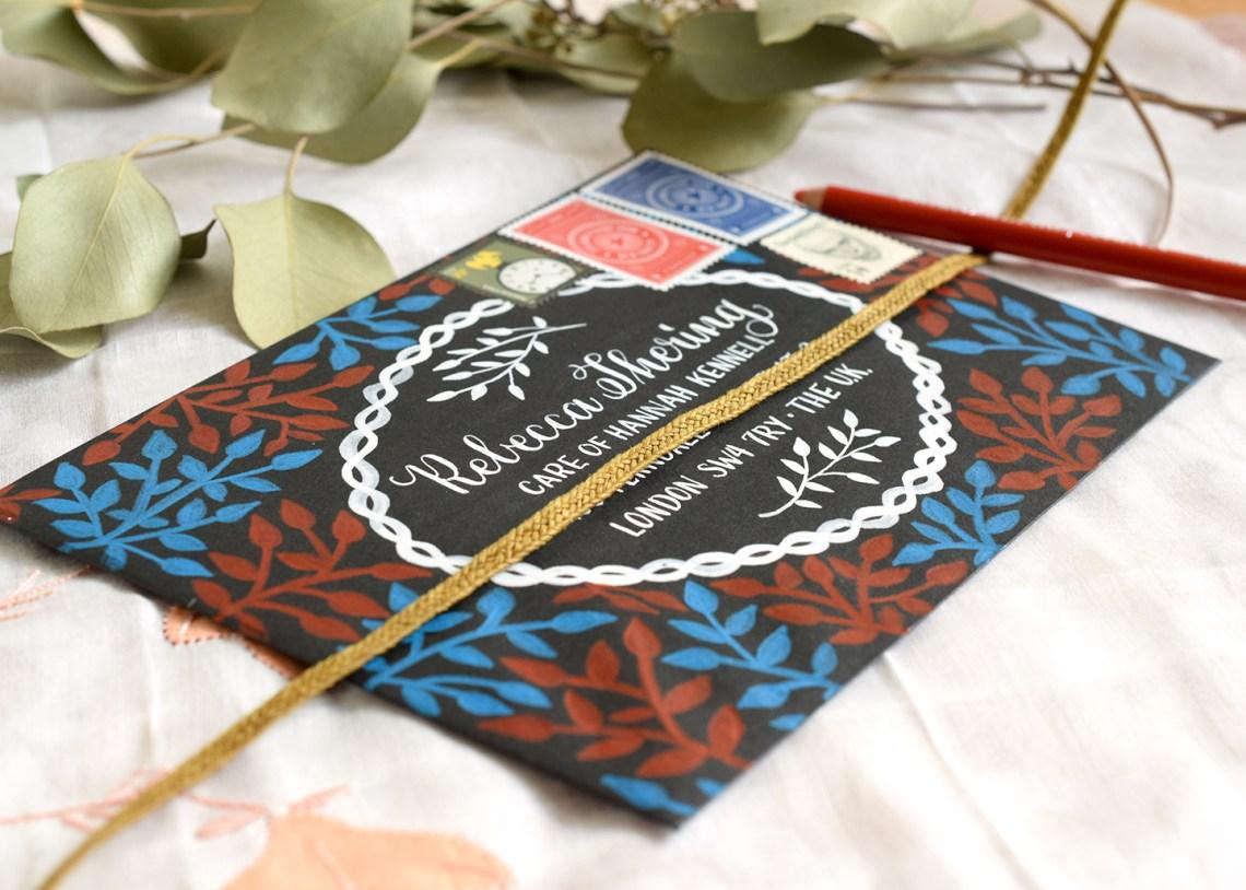 Laurel Branch Decorated Envelopes Tutorial   The Postman's Knock