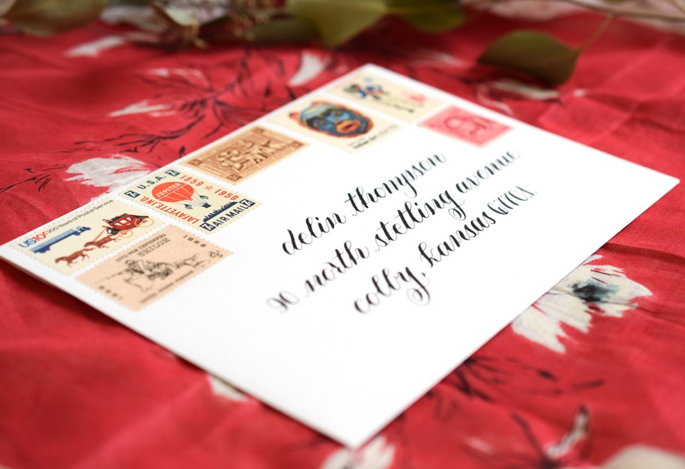 Four Artistic Calligraphy Variations | The Postman's Knock