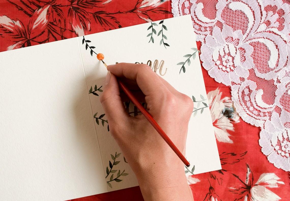 Citrus Watercolor Birthday Card Tutorial | The Postman's Knock