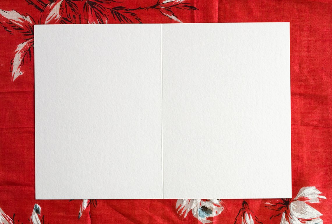 Blank Watercolor Card | The Postman's Knock
