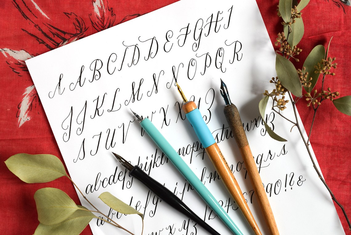 A Guide to Straight Calligraphy Pens | The Postman's Knock