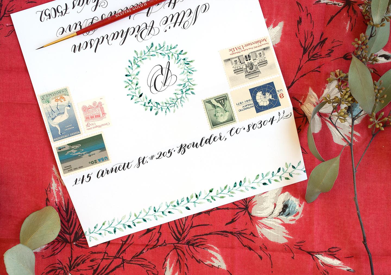 Woodland Watercolor Wreath Tutorials: Part II   The Postman's Knock