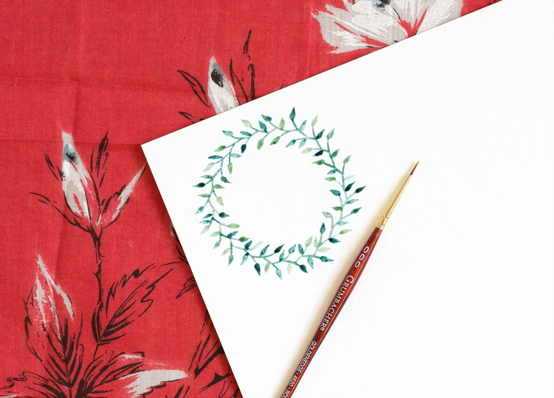 Woodland Watercolor Wreath Tutorials: Part II | The Postman's Knock