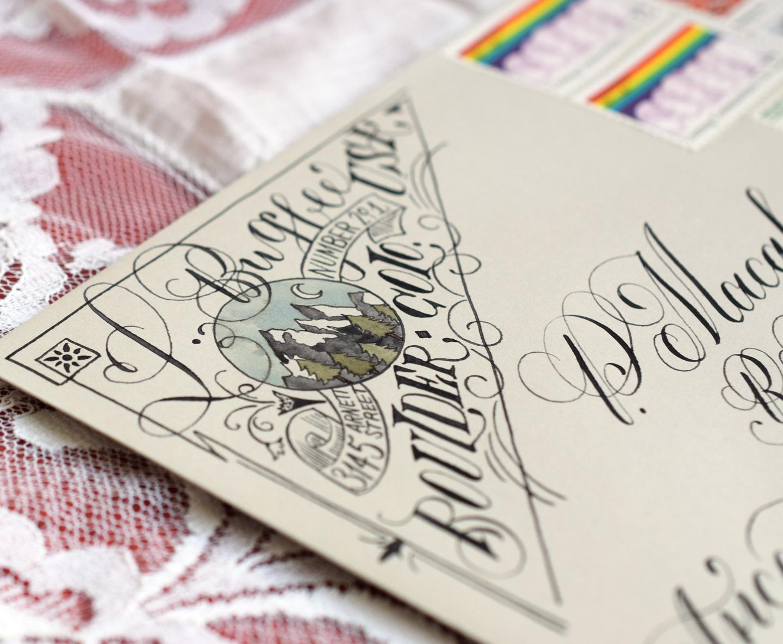 Artistic Return Address Tutorial | The Postman's Knock