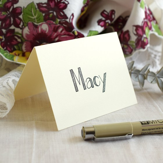 This George Style place card is simple but eye-catching.