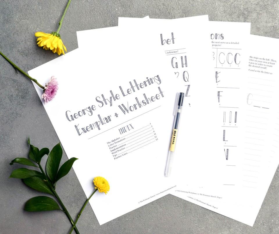 George Style Lettering Worksheet | The Postman's Knock
