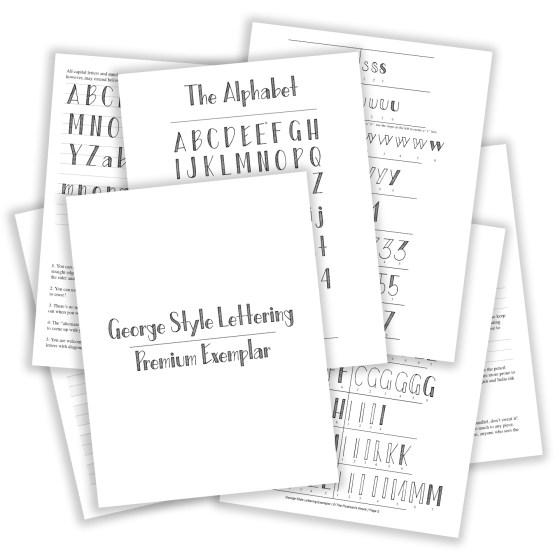 Printable Hand-Lettering Exemplar {George Style} | The Postman's Knock