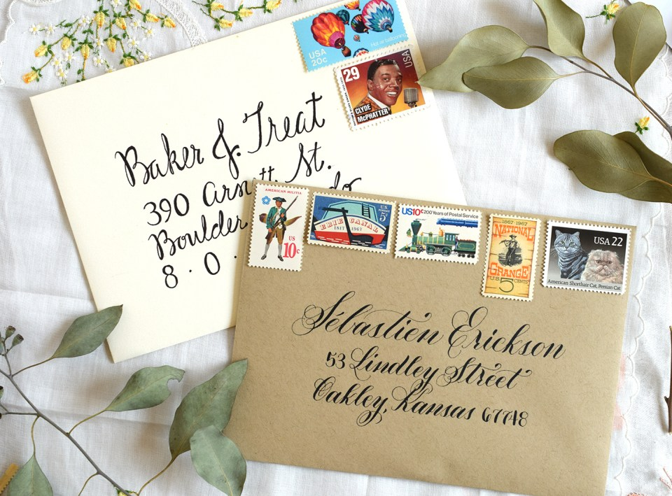 Calligraphy Before and After Photos | The Postman's Knock
