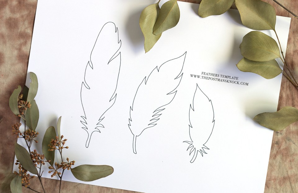 Paper Feathers Tutorial Part II | The Postman's Knock