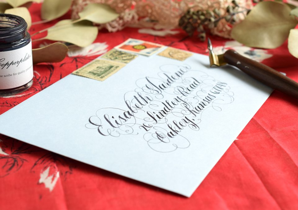 Flourished Envelope | The Postman's Knock
